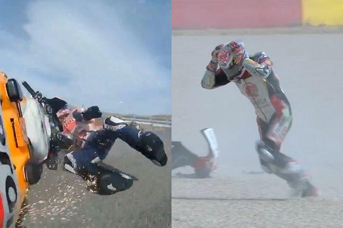 Alex Marquez dan Takaaki Nakagami crash di MotoGP Teruel 2020, pengamat MotoGP malah bilang begini.