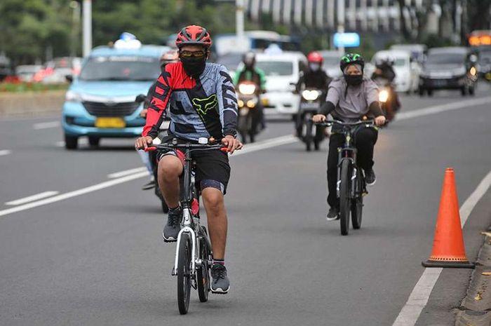 Ilustrasi pesepeda. Waspada begal sepeda naik motor merajalela di Jakarta.