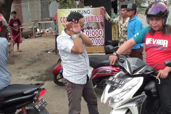 Seorang residivis gasak motor milik satpam, mengakunya sebagai perwira polisi.
