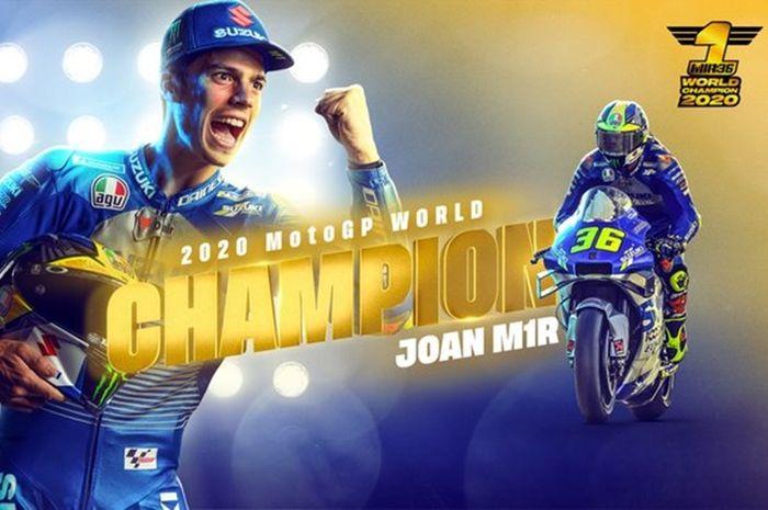 Joan Mir jadi juara dunia MotoGP 2020 bersama Suzuki
