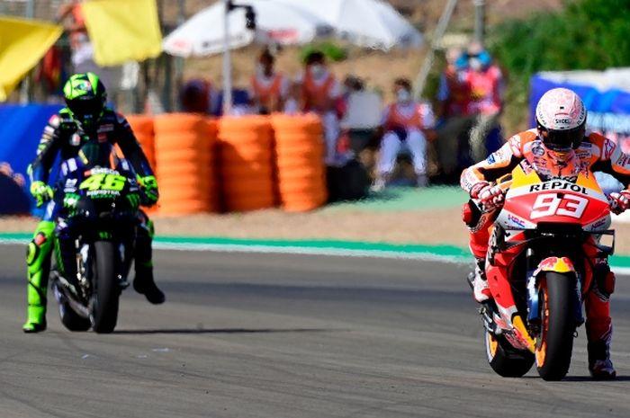 Pembalap tim Monster Energy Yamaha, Valentino Rossi meragukan masa depan Marc Marquez karena cedera panjangnya di musim MotoGP 2020.