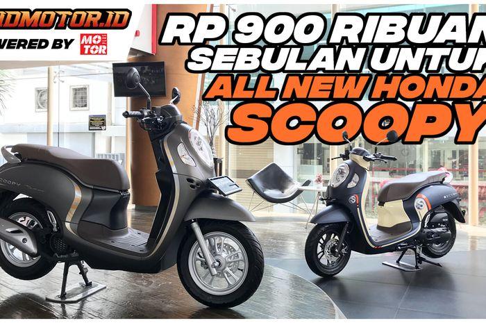 Simulasi cicilan yang diberikan oleh Astra Motor Jakarta untuk All New Honda Scoopy 2020 mulai dari Rp 900 ribuan.