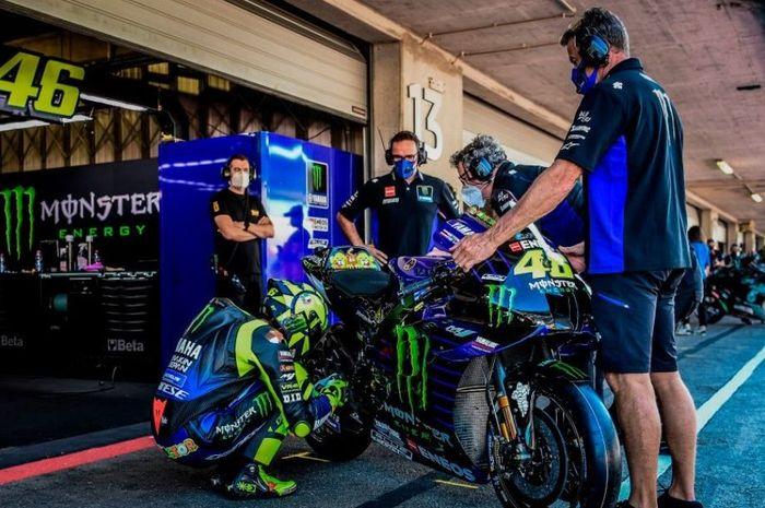 MotoGP Portugal 2020 jadi balapan terakhir bersama tim pabrikan, Valentino Rossi kasih pesan menohok ke Yamaha.