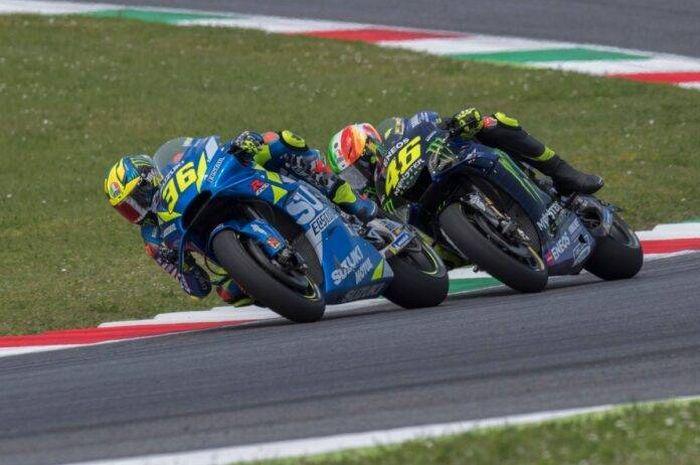 Pembalap Monster Energy Yamaha, Valentino Rossi lemparkan pujian ke Suzuki dan Davide Brivio, ada apa ya?