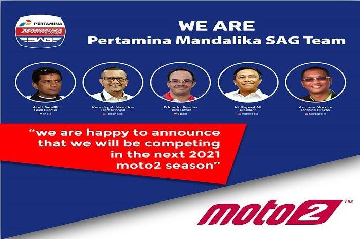 Mandalika Racing Team Indonesia (MRTI) bergabung dengan SAG TEAM.