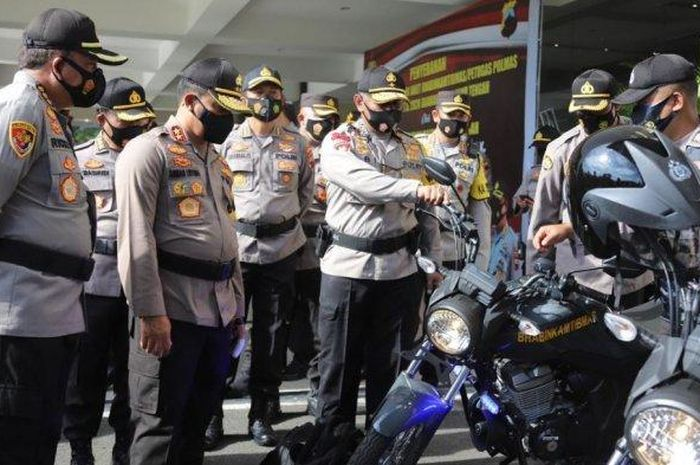 Polda Jawa Tengah kasih ratusan motor Verza ke Bhabinkamtibmas