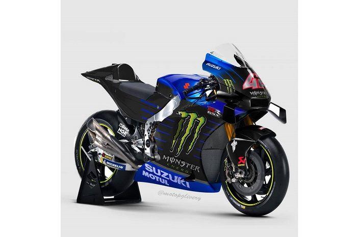 Monster Energy jadi sponsor Suzuki di MotoGP, beginikah livery Suzuki GSX-RR baru
