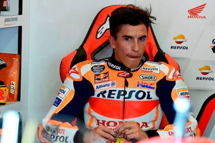 Pembalap tim Repsol Honda, Marc Marquez terkena saraf radial, bakalan absen lagi di MotoGP 2021 nih?