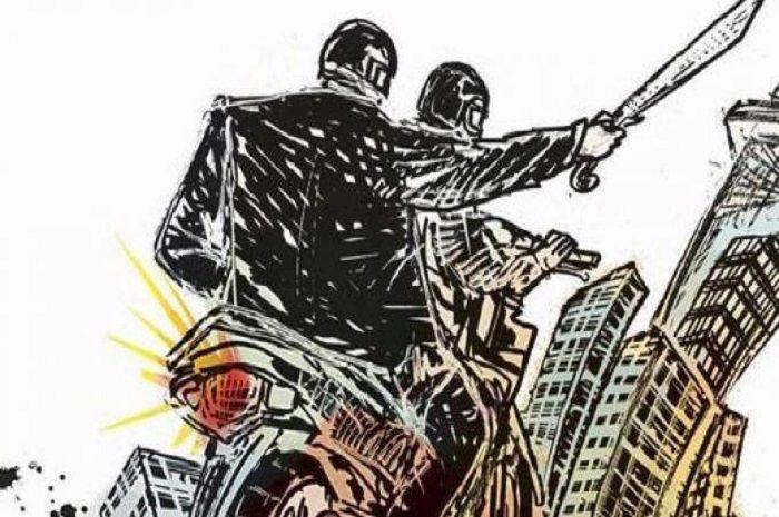 Ilustrasi anggota geng motor.