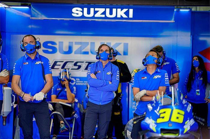 Bos tim Suzuki, Davide Brivio mengungkapkan beberapa bulan lagi ada keputusan Suzuki untuk membuat tim satelit atau tidak di MotoGP 2022.