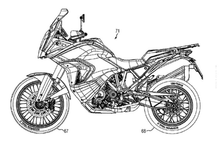 Gambar desain KTM 1290 Super Adventure 2021 bocor, ada teknologi radar!