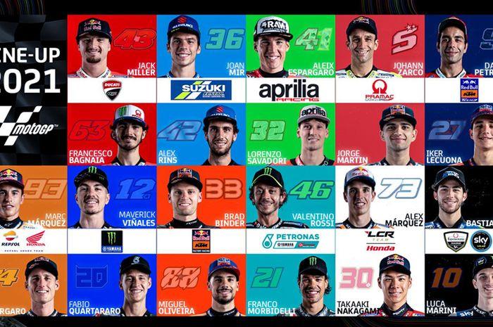 Daftar pembalap MotoGP 2021 paling banyak datang dari Spanyol dan Italia. Adu gengsi Spanyol versus Italia jadi pertaruhan