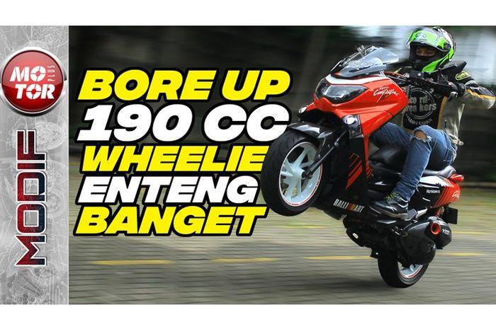Modifikasi Yamaha NMAX bore up 190 cc buat turing