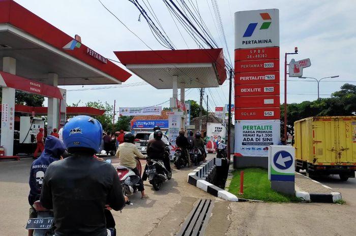 Harga bensin Pertamina