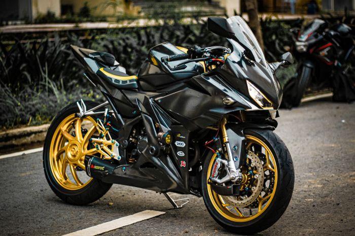 Modifikasi motor Honda CBR150R, tampang makin agresif, comot kaki-kaki moge!