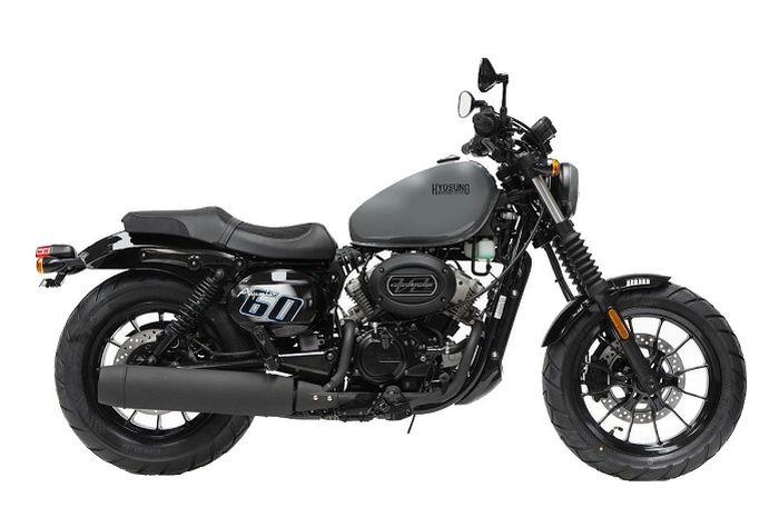 Motor Hampir-Davidson asal Korea Selatan, body kekar, mesin mungil, harganya mirip-mirip motor matic Yamaha.