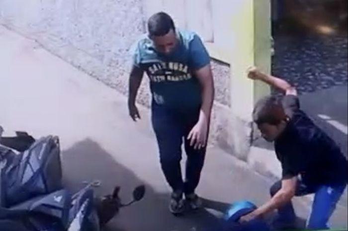 Kasus pengeroyokan pemobil kepada driver ojol