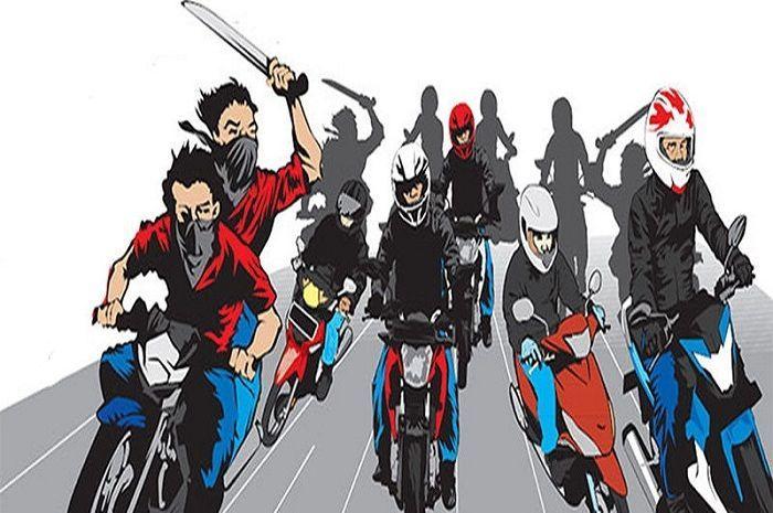 Ilustrasi geng motor, Satu Remaja Tewas Akibat Dua Geng Motor Bentrok Di Tambora