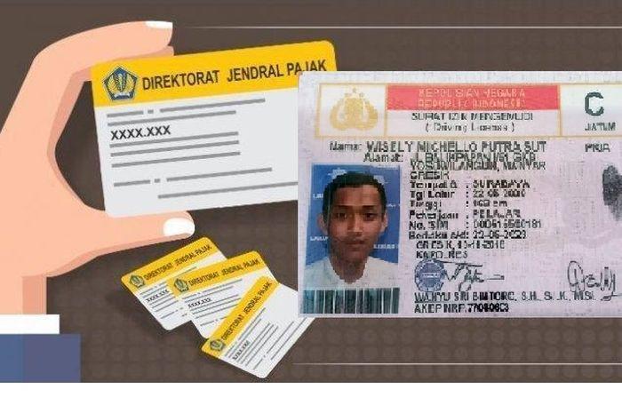 Ilustrasi NPWP dan SIM pengganti KTP ketika bayar pajak kendaraan