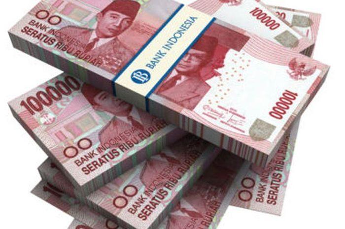 Ilustrasi uang bantuan pemerintah atau BLT Rp 3,55 juta