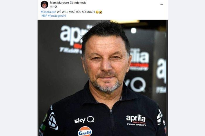 Kabar hoax Fausto Gresini pemilik tim MotoGP dikabarkan meninggal