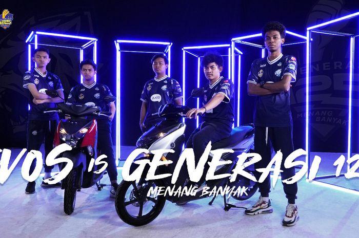 Generasi 125 jadi sponsor resmi Evos Esport