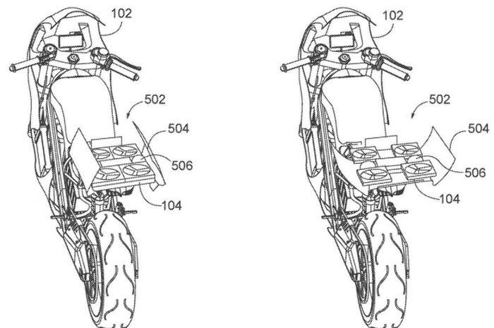 Wow, muncul konsep motor listrik Honda terkoneksi dengan drone!