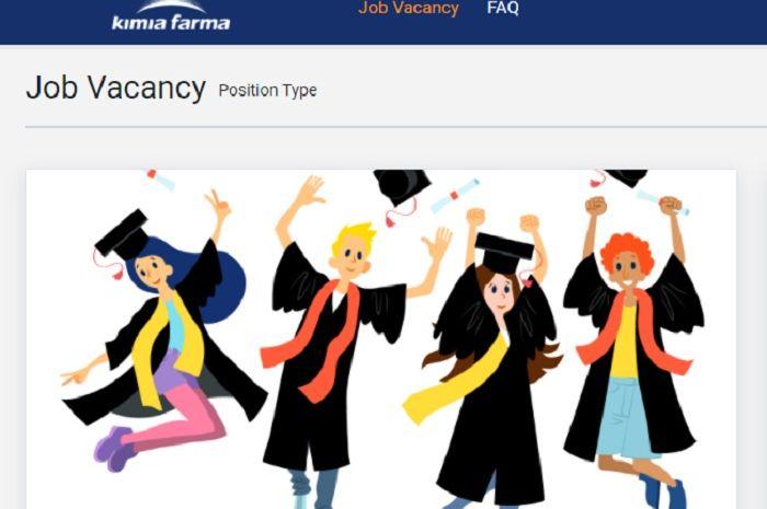 Kimia Farma banyak buka lowongan kerja, lulusan baru bisa kirim lamaran.