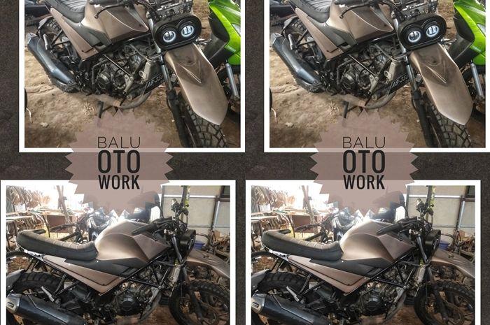 Bengkel modifikasi motor Balu Oto Work.