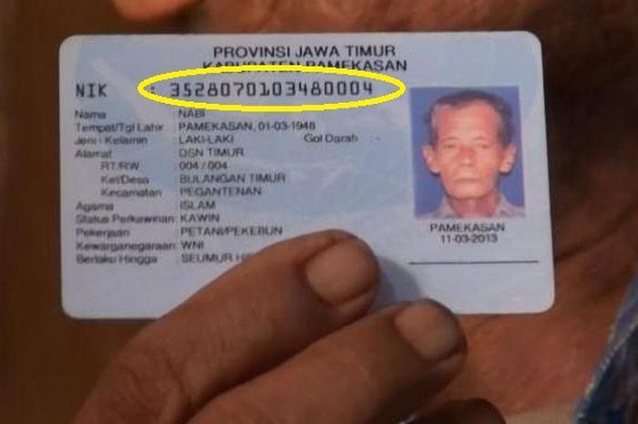 Ilustrasi nomor KTP untuk mengecek penerima bantuan pemerintah atau BLT atau bansos
