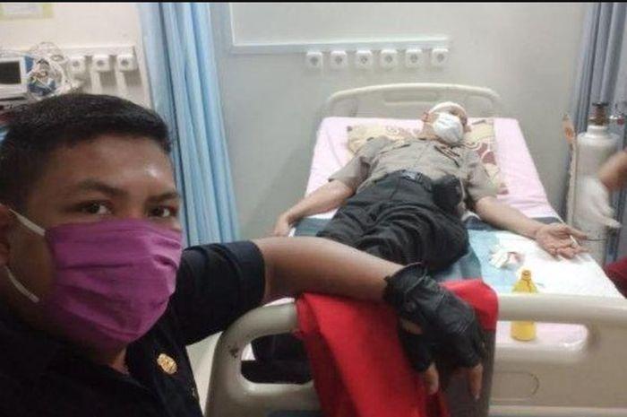 Bubarkan Geng Motor yang Lagi Konvoi, Anggota Polisi Malah Dibacok