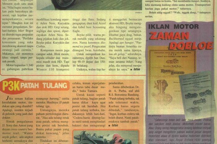 5 Tips Pertolongan Pertama Saat Kecelakaan ala MOTOR Plus Edisi Pertama 1999