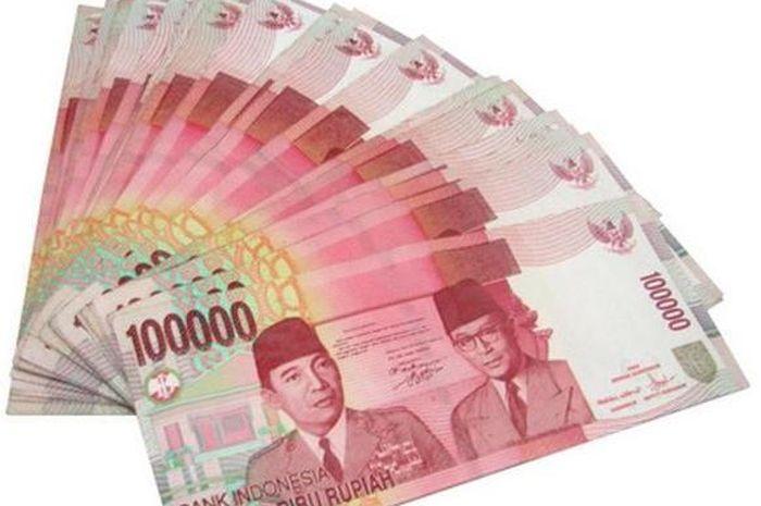 Uang ilustrasi bantuan pemerintah atau BLT atau bansos