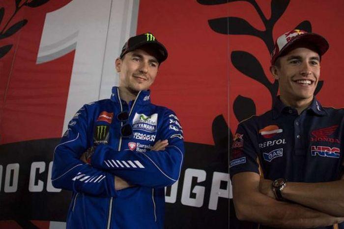 Pedas, mantan pembalap MotoGP, Jorge Lorenzo sebut Marc Marquez tidak akan podium di MotoGP Portugal 2021.