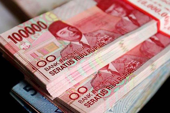 Uang ilustrasi bantuan pemerintah atau BLT berupa bansos atau bantuan sosial tunia
