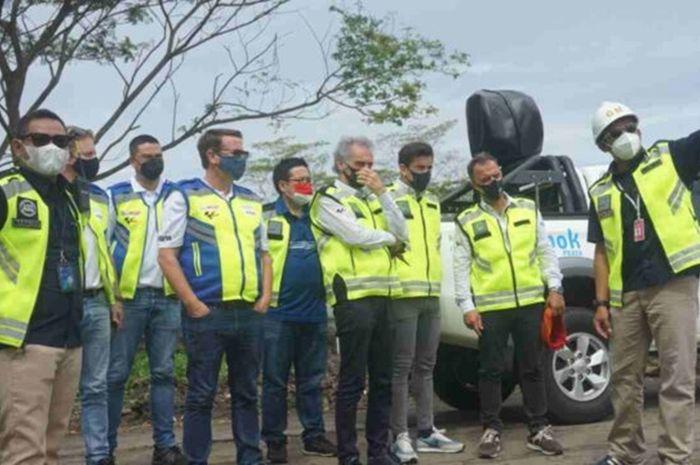 Carmelo Ezpeleta dan tim Dorna memantau sirkuit Mandalika. Wuih, Balapan Motor Dunia di Sirkuit MotoGP Mandalika Indonesia Digelar Akhir 2021