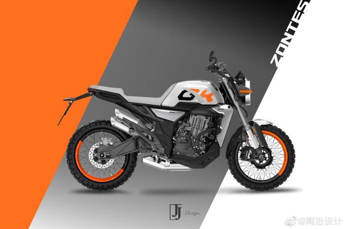 Wow, motor sport retro modern 350 cc bakal meluncur, usung gaya scrambler!