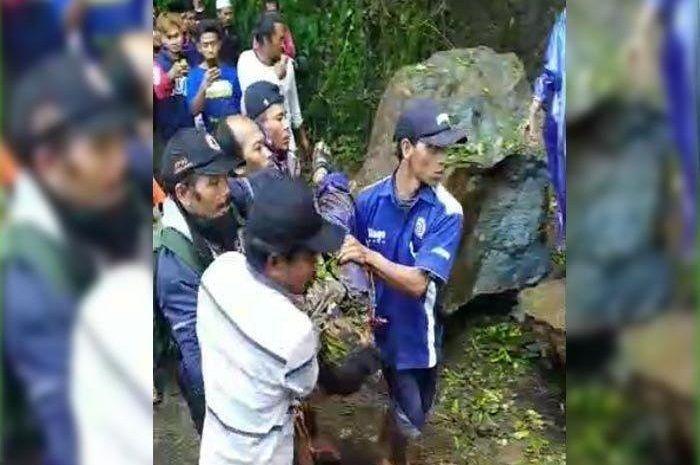 Gara-gara gempa Malang, pemotor di daerah ini tewas, motor miliknya hancur.