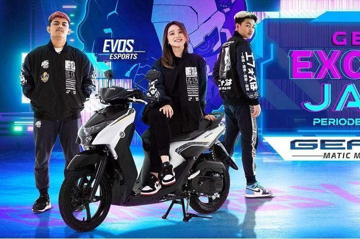 Beli motor Yamaha Gear 125 bisa dapat jake exclusive GEAR 125 x EVOS, cocok buat gamers.