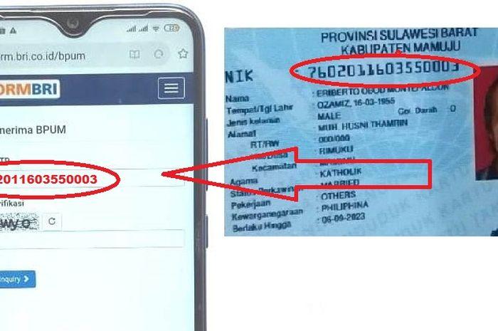 Masukkan nomor KTP dari HP untuk mengecek apakah anda termasuk penerima bantuan pemerintah