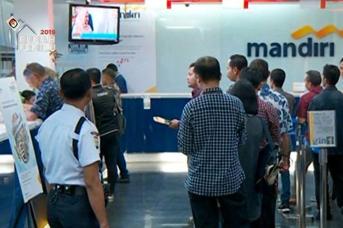 Foto ilustrasi di Bank Mandiri