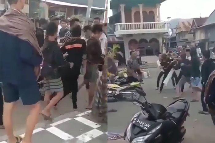 Heboh balap liar mendadak baku hantam, netizen bilang begini.