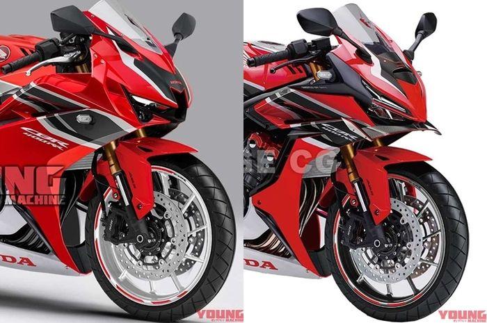 Render 2 calon motor 4 silinder baru Honda CBR