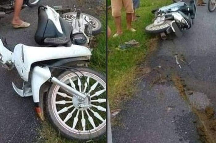 Ada-ada Aja, Pemotor Ini Kecelakaan Gara-gara Libas Kotoran Sapi