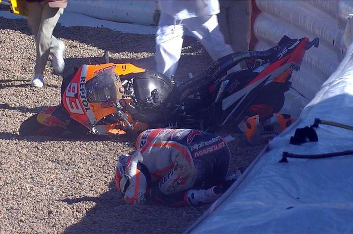 Selain Marc Marquez, ada pembalap lain yang jadi korban tikungan horor Sirkuit MotoGP Spanyol 2021.