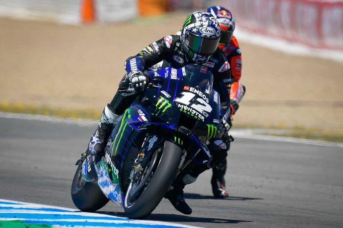 Hasil lengkap tes MotoGP Jerez 2021, pembalap tim Monster Energy Yamaha, Maverick Vinales masih menjadi yang tercepat.