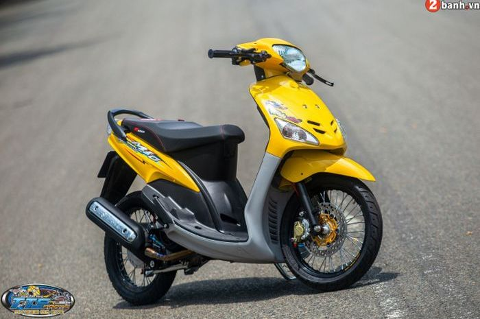 Modifikasi Yamaha Mio lawas, segar kembali bertabur part kece.