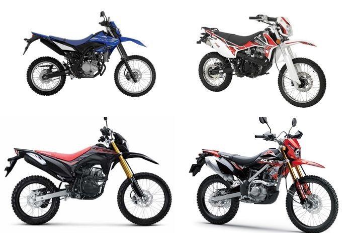 Ilustrasi motor trail 150 cc, harga naik semua?