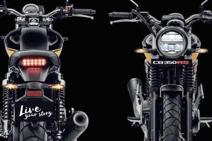 Ilustrasi. Rumor calon motor retro modern Honda terbaru, mesin 500 cc 2 silinder!