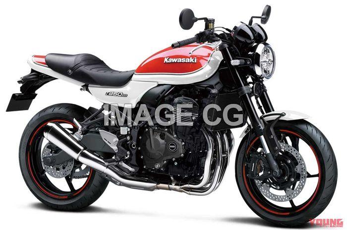 Gambar render motor sport retro Kawasaki baru, pakai basis Ninja ZX-25R!